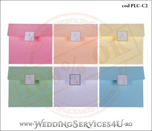Plic Colorat Personalizat pentru Invitatie de Nunta Botez PLC-C2