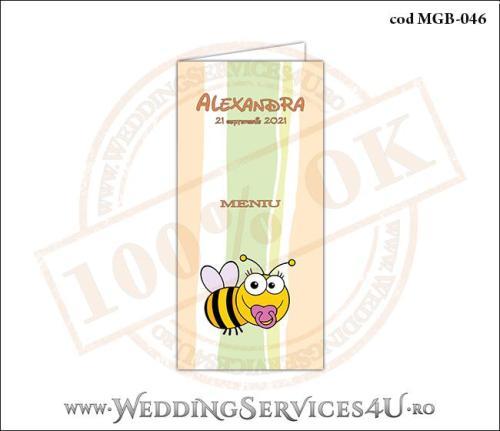 MGB-046 Meniu pentru Botez cu bebe albinuta