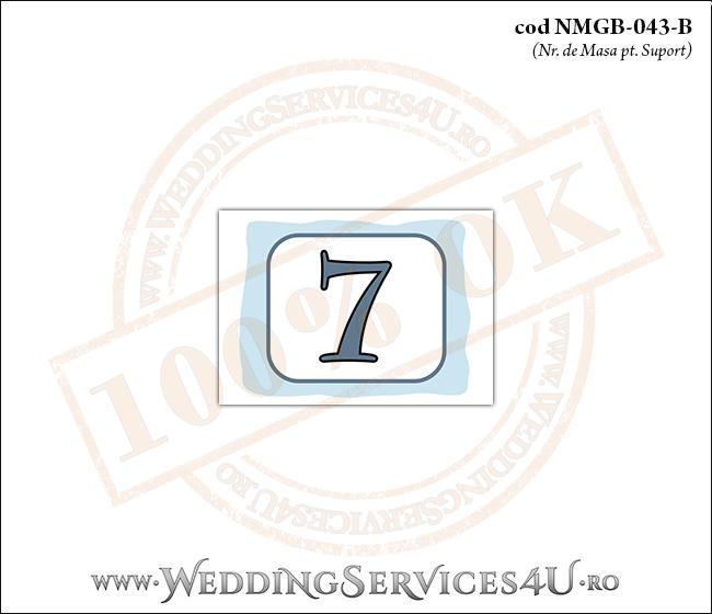 NMGB-043-B Numar de Masa pentru Botez cu bleu