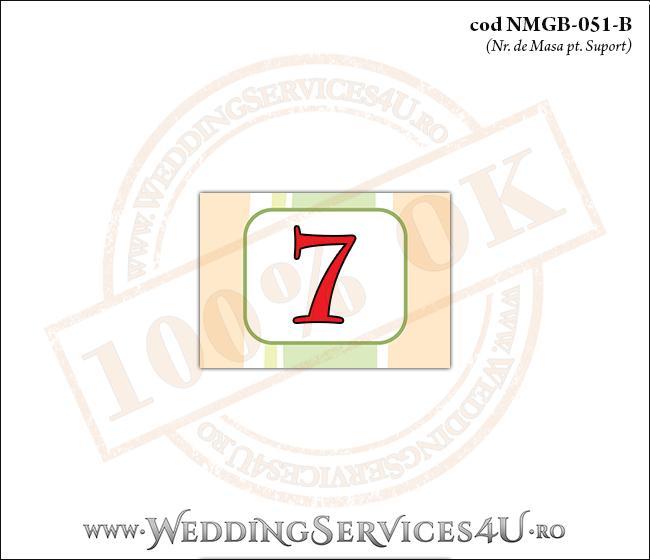 NMGB-051-B Numar de Masa pentru Botez cu dungi pastel