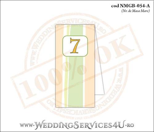 NMGB-054-A Numar de Masa pentru Botez cu dungi pastel