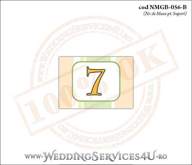 NMGB-056-B Numar de Masa pentru Botez cu dungi pastel