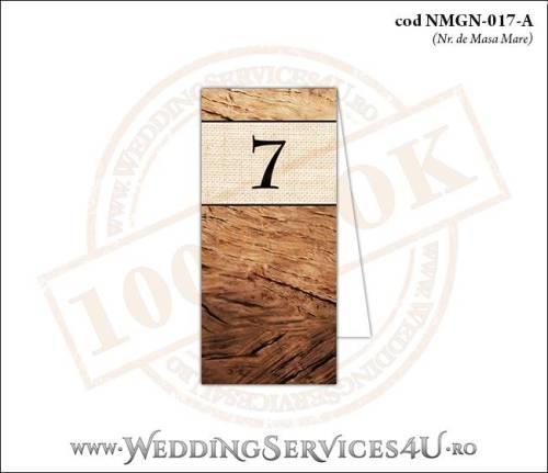 NMGN-017-A Numar de Masa pentru Nunta sau Botez cu tematica de toamna