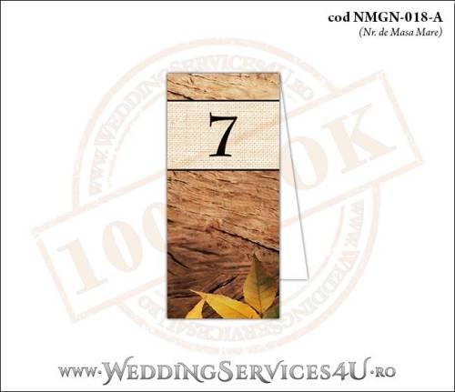 NMGN-018-A Numar de Masa pentru Nunta sau Botez cu tematica de toamna