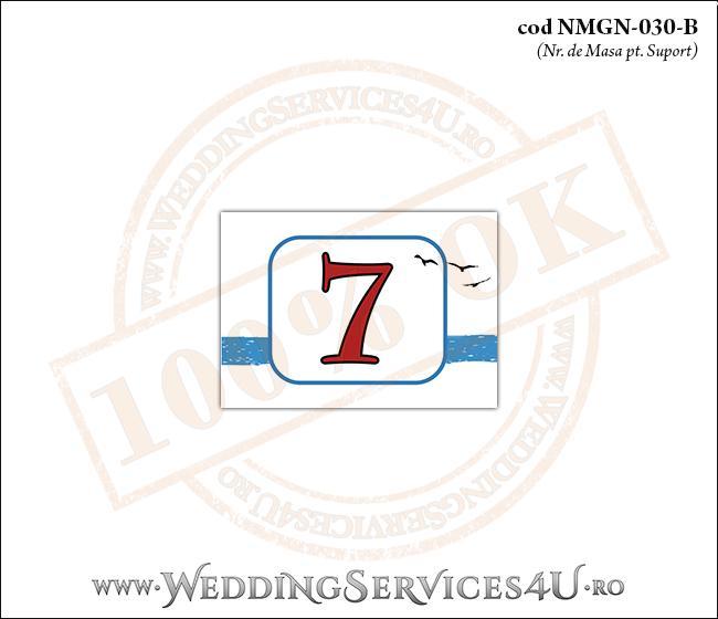 NMGN-030-B Numar de Masa pentru Nunta sau Botez cu tematica marina (cu pasari stilizate in zbor)