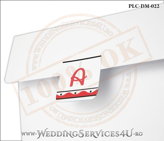 Plic Invitatie Nunta-Botez PLC-DM-022-2 Alb
