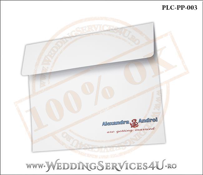 Plic Patrat Alb Invitatie Nunta-Botez PLC-PP-003-2