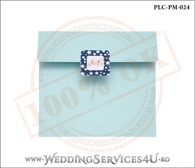 Plic Patrat Invitatie Nunta-Botez PLC-PM-024-1 Bleu