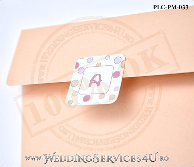 Plic Patrat Invitatie Nunta-Botez PLC-PM-033-2 Peach