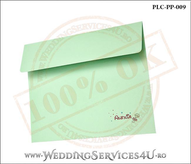Plic Patrat Invitatie Nunta-Botez PLC-PP-009-2 Verde