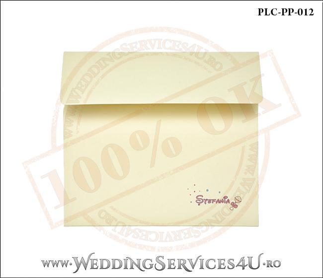 Plic Patrat Invitatie Nunta-Botez PLC-PP-012-1 Galben
