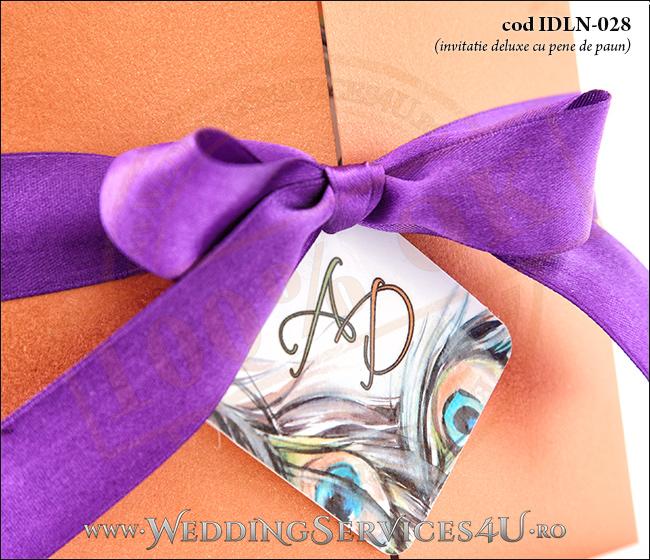 Invitatie_Deluxe_Nunta_Botez_IDLN-028-04cu_pene_de_paun_mov