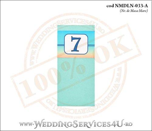 NMDLN-033-A-01 nr de masa turcoaz nunta botez cu tematica marina