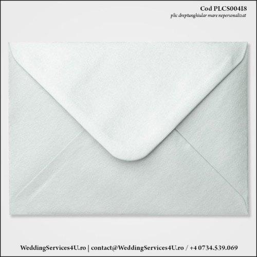 PLCS004i8 Plic Colorat Argintiu Sidefat pentru Invitatie Mare de Nunta Botez