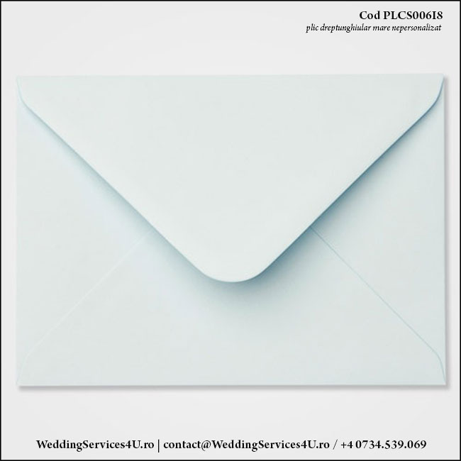 PLCS006i8 Plic Colorat Bleu Pastel pentru Invitatie Mare de Nunta Botez