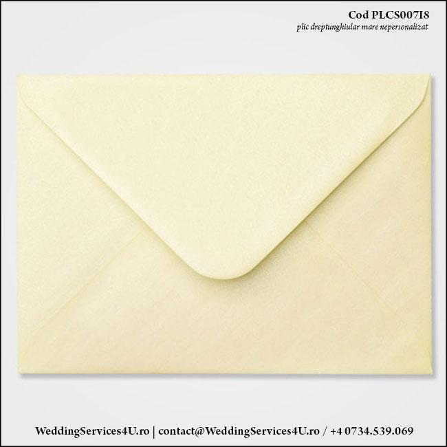 PLCS007i8 Plic Colorat Crem Sidefat pentru Invitatie Mare de Nunta Botez
