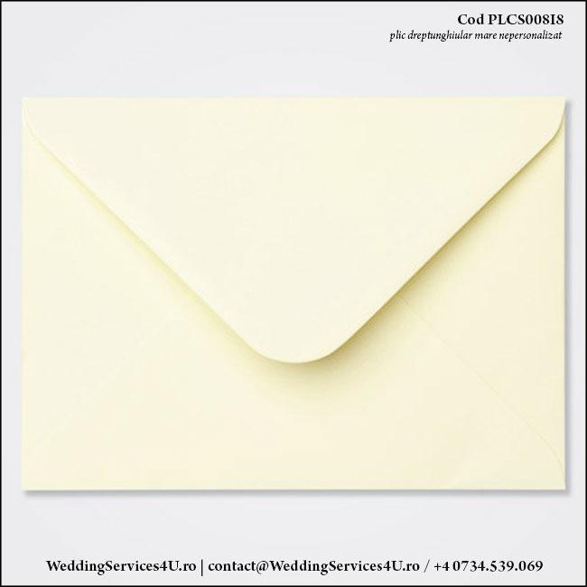 PLCS008i8 Plic Colorat Ivoire pentru Invitatie Mare de Nunta Botez
