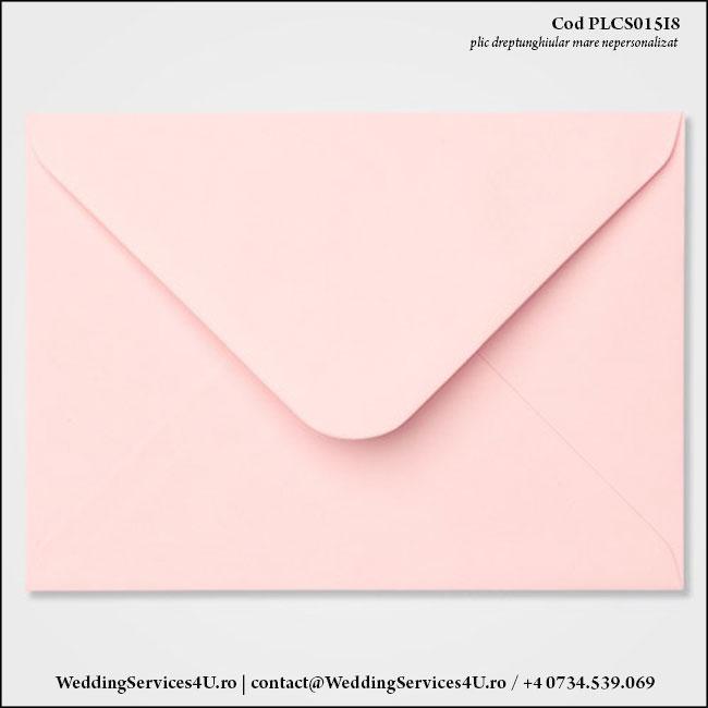 PLCS015i8 Plic Colorat Roz Pastel pentru Invitatie Mare de Nunta Botez
