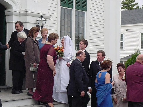 receiving line following the wedding ceremony