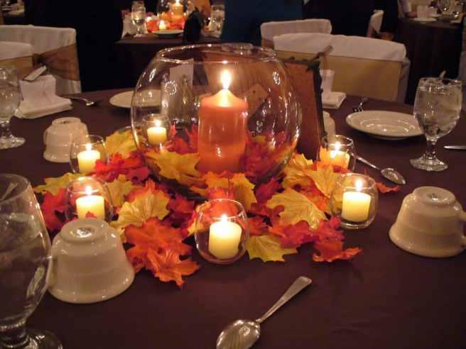 non-floral candle centerpiece