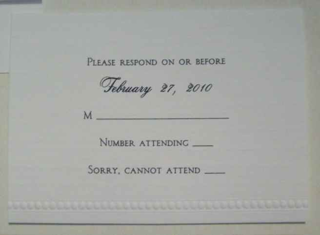 wedding invitation enclosure rsvp