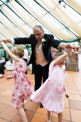 children at a wedding reception