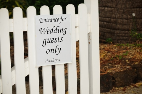 wedding guests entrance sign