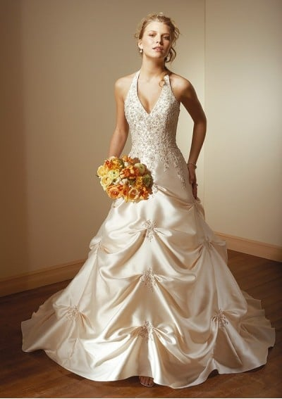 halter style wedding gown wedding dress