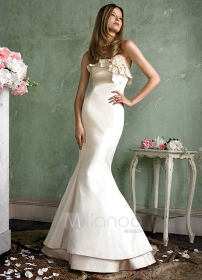 trumpet wedding gown wedding dress