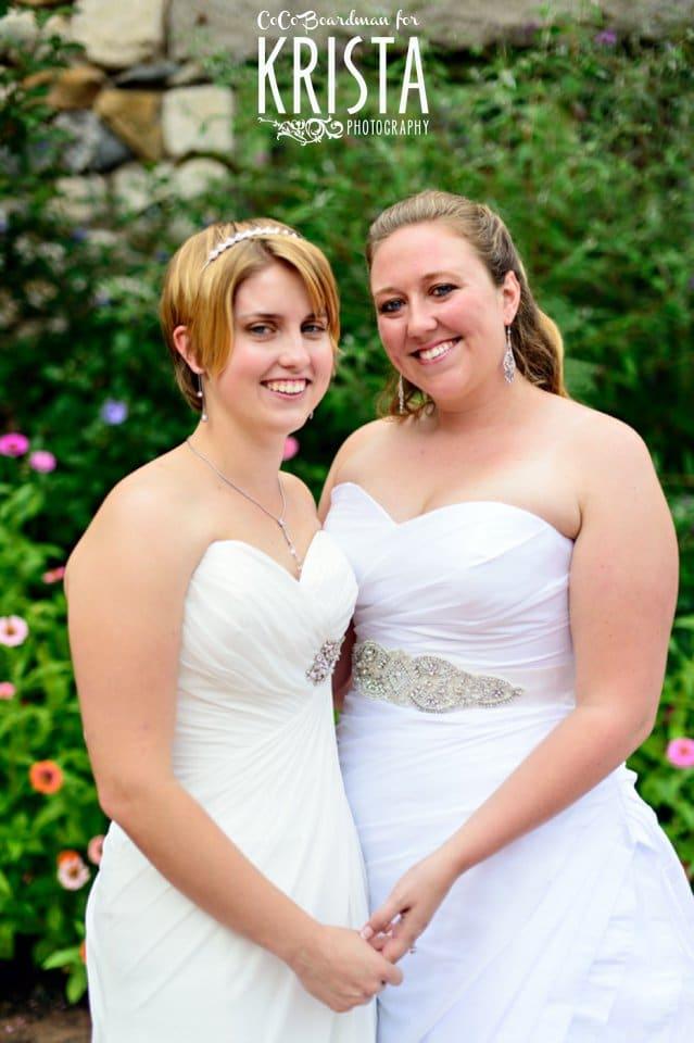 brides on their wedding day