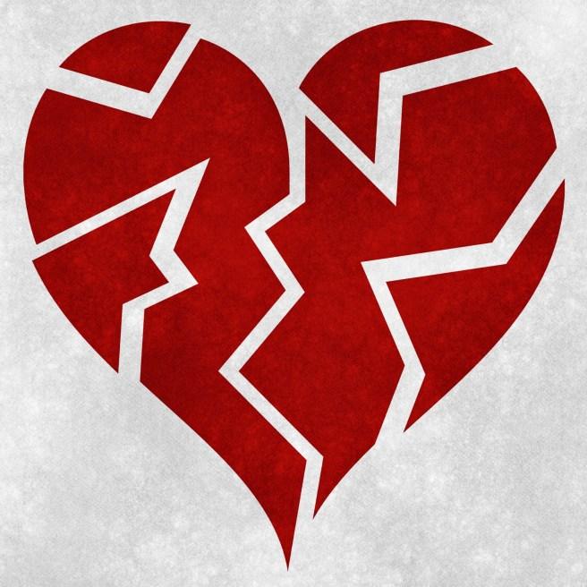 broken heart - cancelled wedding