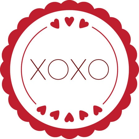 xoxo in red circle