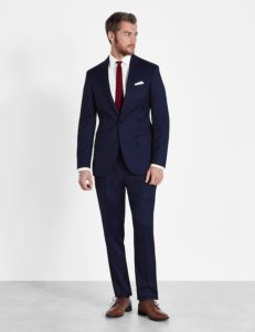 royal navy blue suit