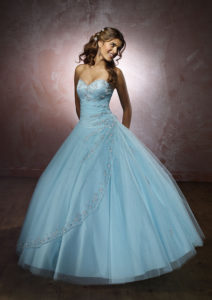 2017 Color Trends - blue wedding gown