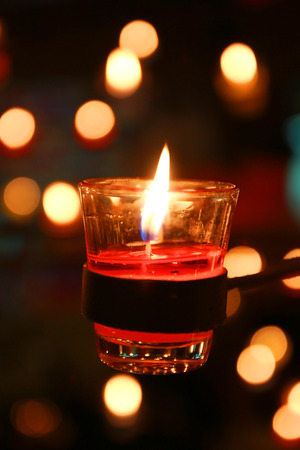 Candles are an economical way to provide a romantic ambience to your wedding reception/celebration. For an eco-friendly, green touch, use soy or honeycomb candles.