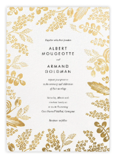 Beautiful wedding invitation from Paperless Post