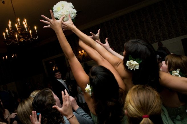 Bouquet Toss - Tossing The Bouquet - Wedding Customs