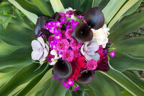 Dark Purple cala lily bridal bouquet