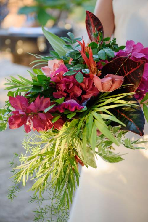 boho tropical bridal bouquet