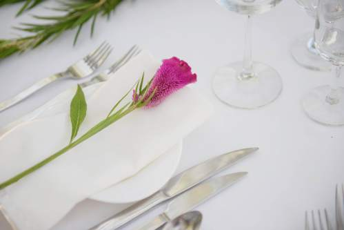 wedding place setting detail