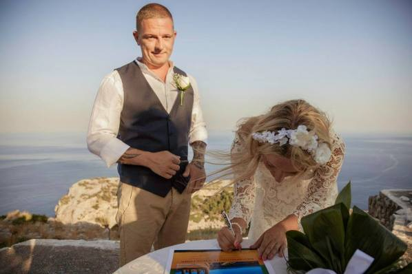 secluded location for wedding in rhodes