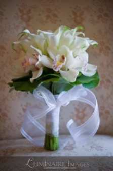 lily & orchid bouquet