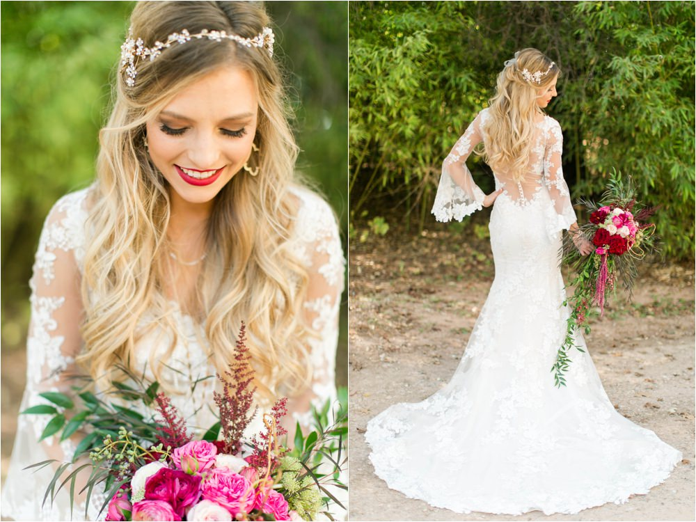 bold red and pink wedding colors
