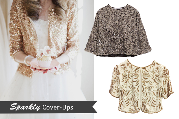 Winter Wedding Trend - Sparkly Cover-Ups