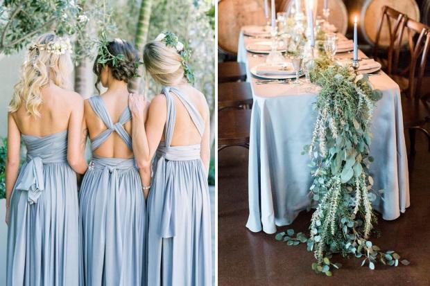 Dreamy Dusty Blue Winter Wedding Inspiration
