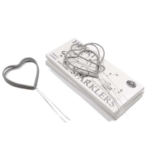 Heart Sparklers 12 pack