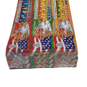 10 Inch Assorted Color Sparklers 96 pack - Red, Green, Yellow - Legend Brand