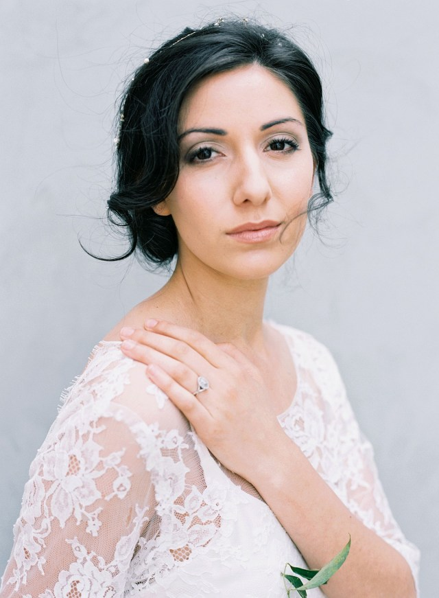 hair and makeup for a fine art bride from rouge workshop by