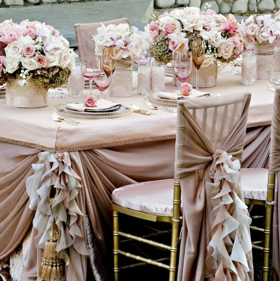 gold universal chair covers high table and chairs for kitchen linen decoration ideas archives - weddings romantique