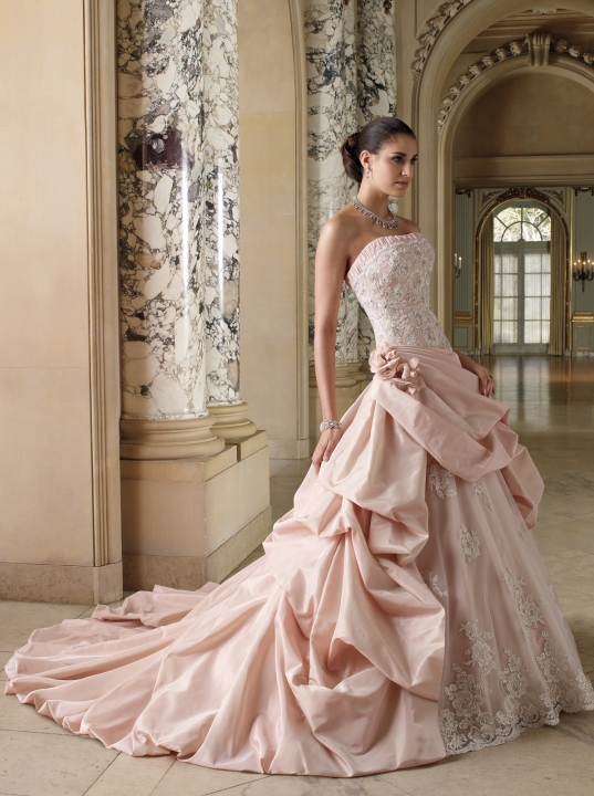 Elegant Pink Wedding Dresses  Weddings Romantique